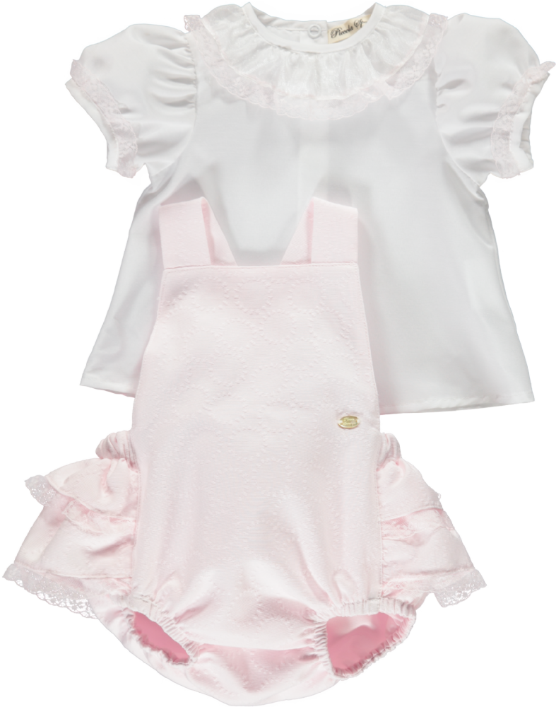 Piccola Speranza Girls Pink Two Piece Outfit